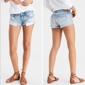 American Eagle Shorts 6 Jean Denim Lace Pocket AEO